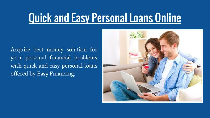 Quick and Easy Personal Loans Online