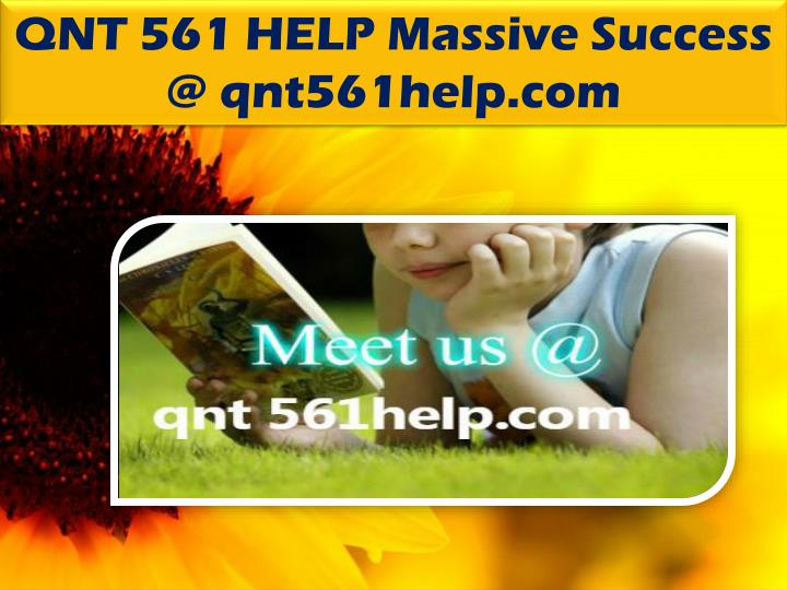 QNT 561 HELP Massive Success @ qnt561help.com