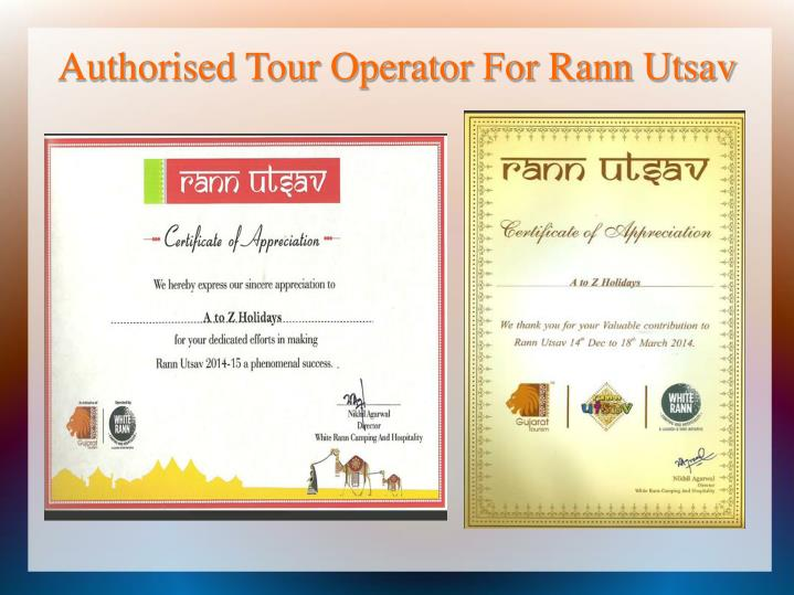 Authorised Tour Operator For Rann Utsav
