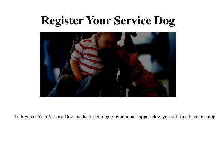 Register Your Service Dog