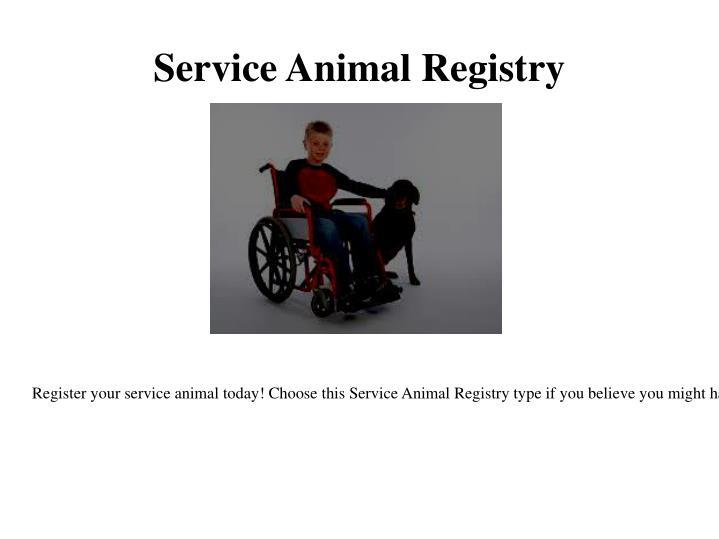 Service Animal Registry