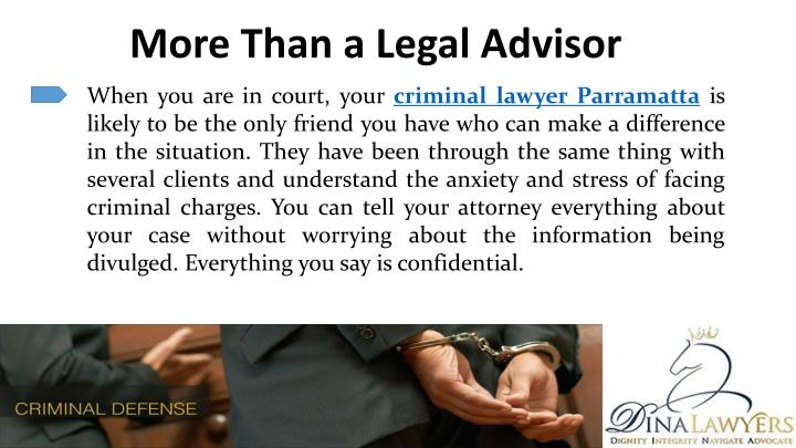 More Than a Legal Advisor