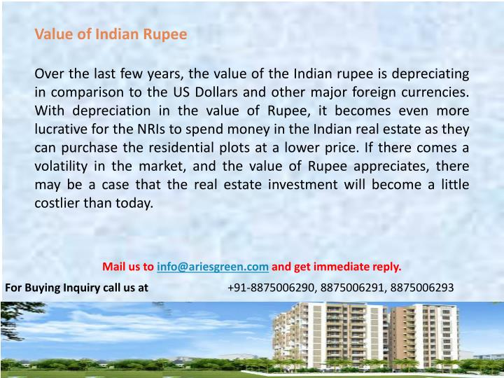 Value of Indian Rupee