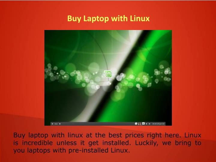 Buy Laptop with Linux