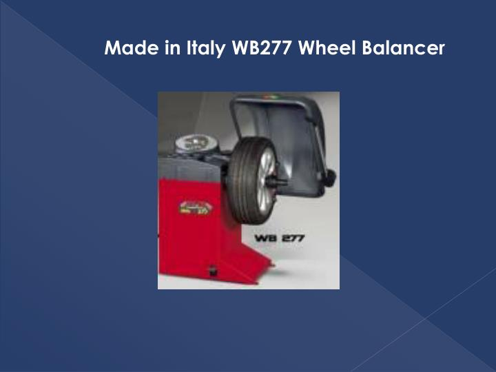 Made in Italy WB277 Wheel Balancer