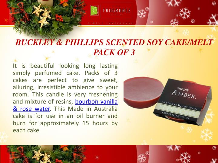 BUCKLEY & PHILLIPS SCENTED SOY CAKE/MELT PACK OF 3