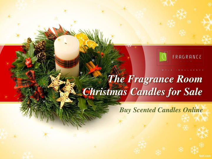 the fragrance room christmas candles for sale