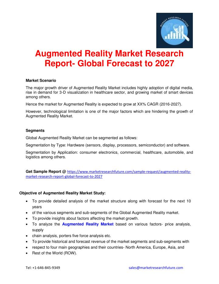 Augmented Reality Market Research