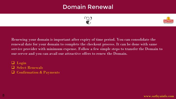 Domain Renewal