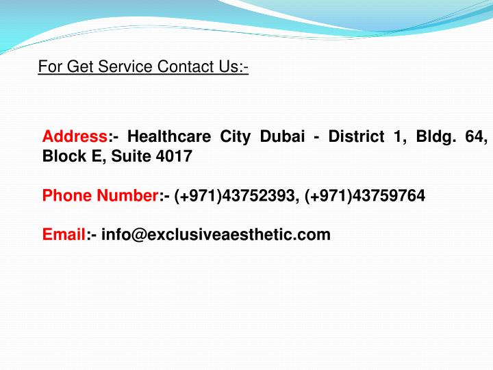 For Get Service Contact Us:-