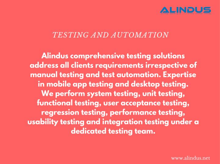 TESTING AND AUTOMATION