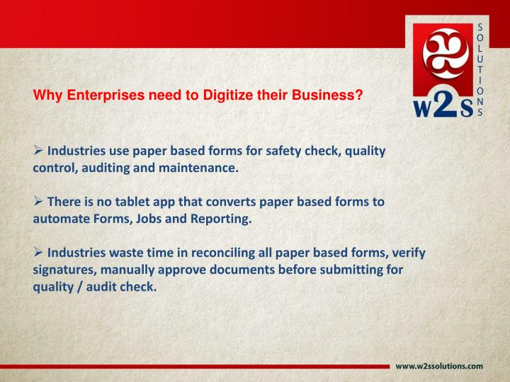 Why Enterprises need to Digitize their Business?