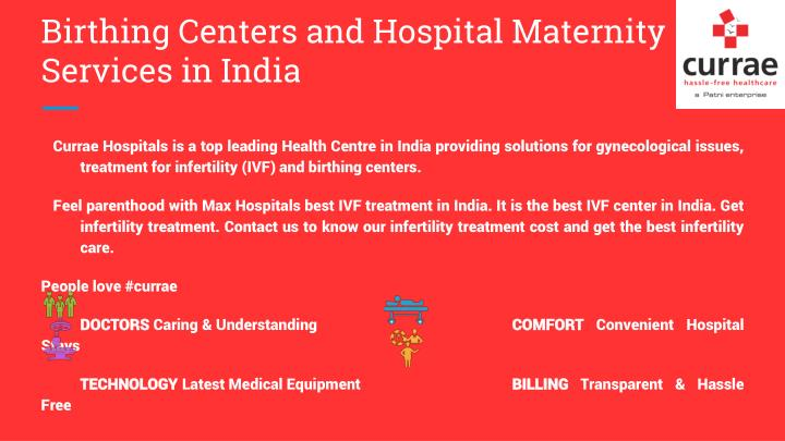 Birthing Centers and Hospital Maternity Services in India