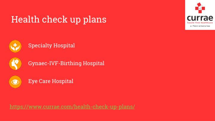 Health check up plans