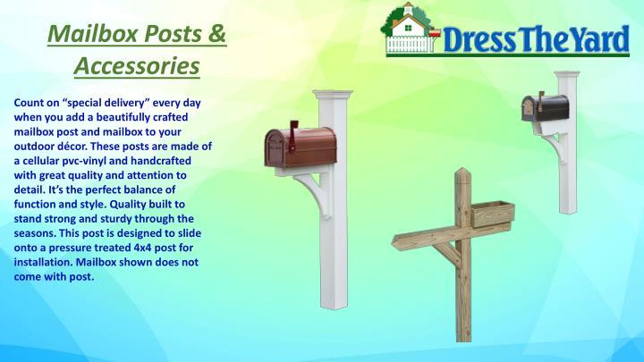 Mailbox Posts & Accessories