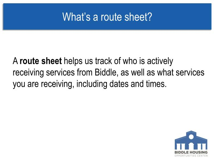 What's a route sheet?