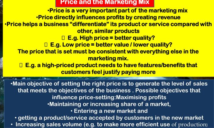 Price and the Marketing Mix