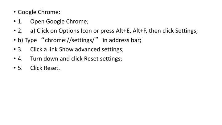 Google Chrome: