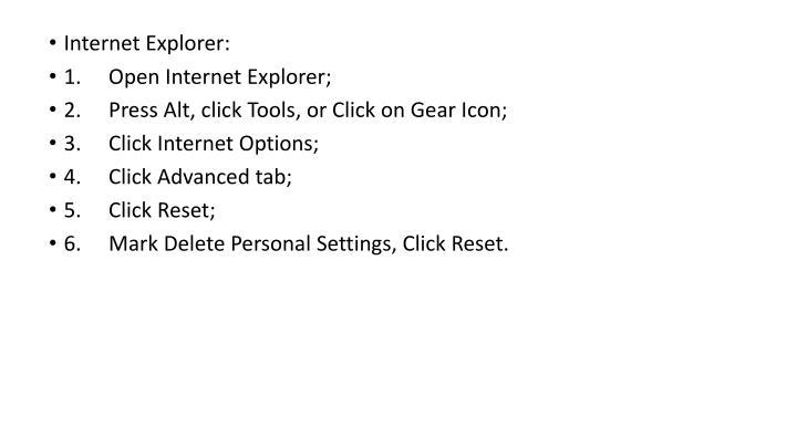 Internet Explorer: