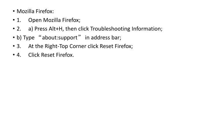 Mozilla Firefox: