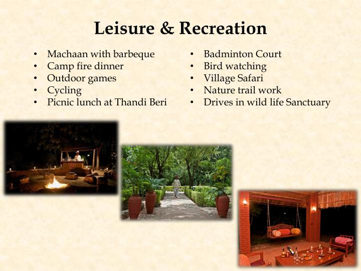Leisure & Recreation