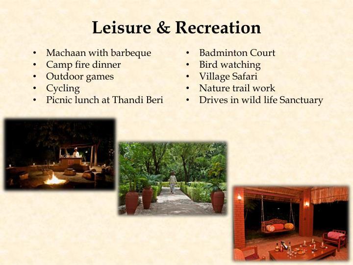 Leisure & Recreation