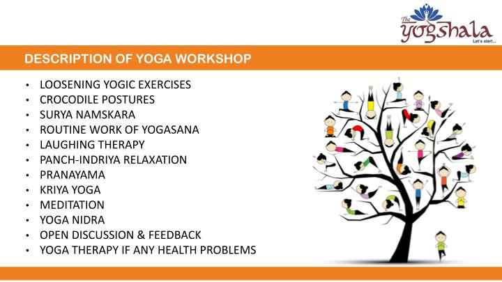 DESCRIPTION OF YOGA WORKSHOP