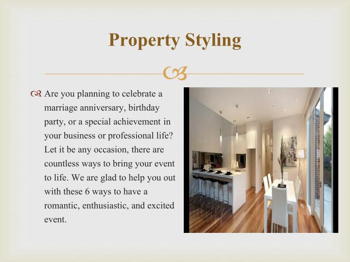 Property styling