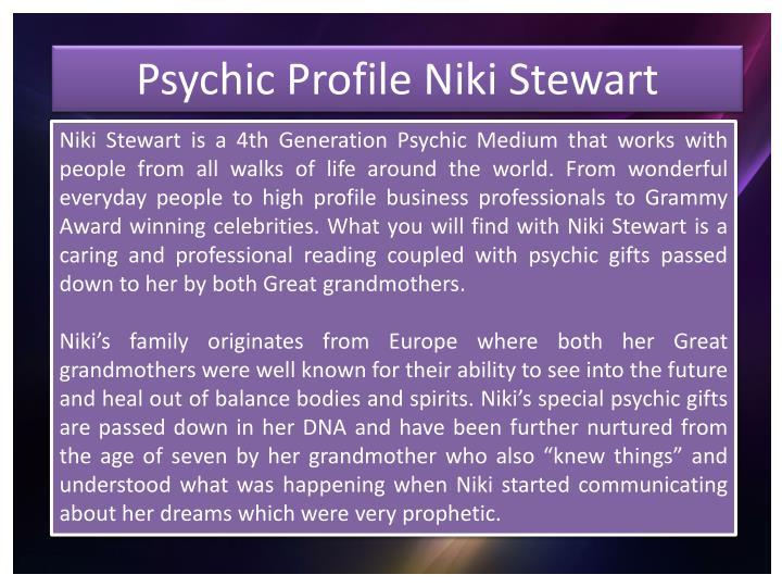 Psychic Profile Niki Stewart