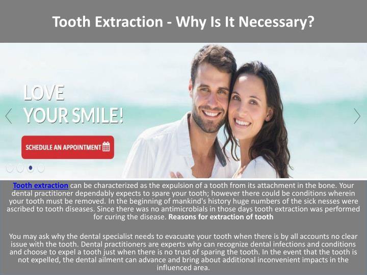 Tooth extraction why is it necessary