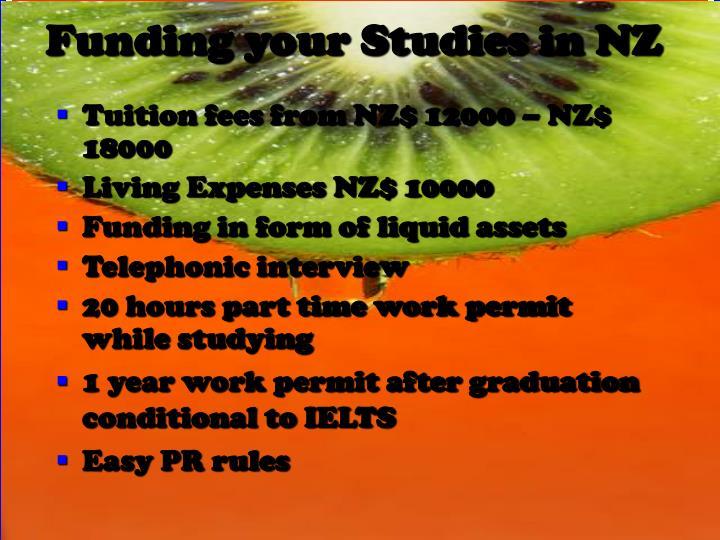 Funding your Studies in NZ