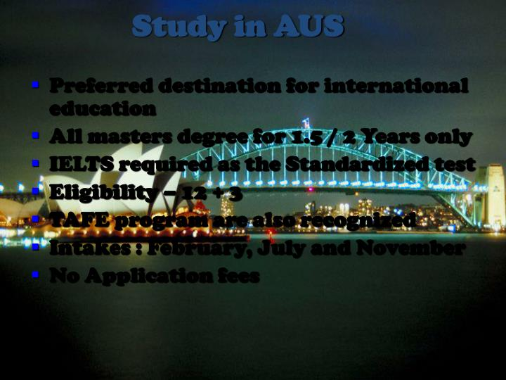Study in AUS