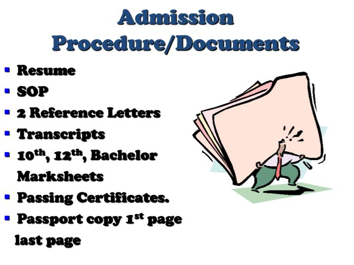 Admission Procedure/Documents