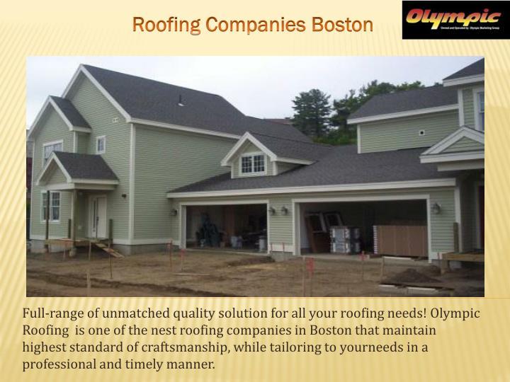 Roofing Companies Boston
