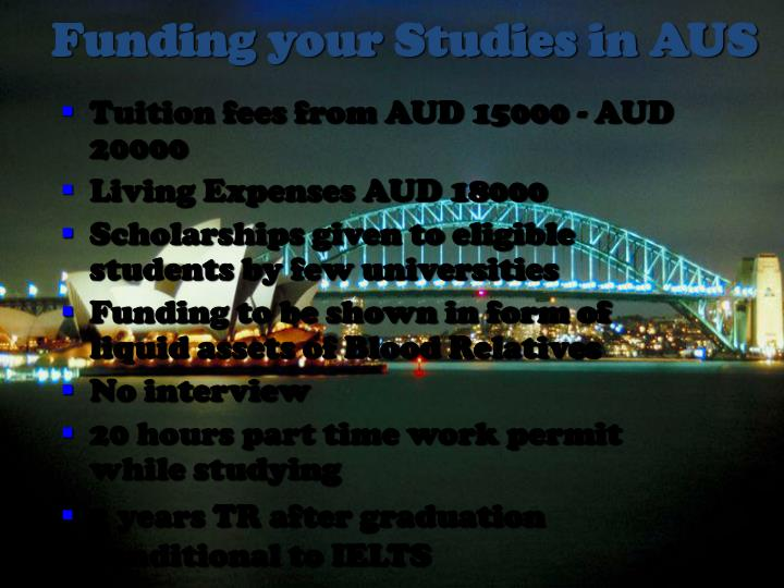 Funding your Studies in AUS