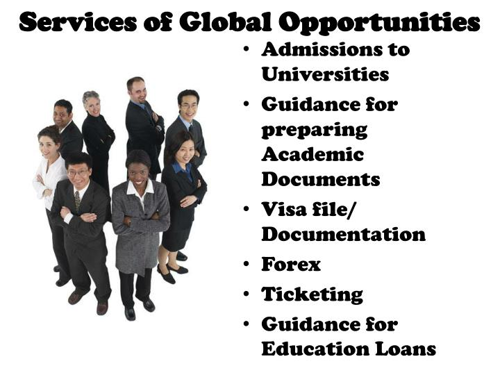 Services of Global Opportunities