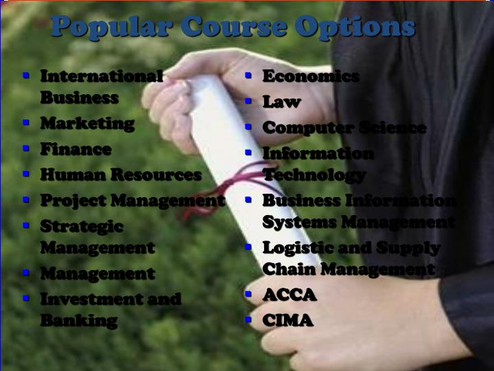 Popular Course Options