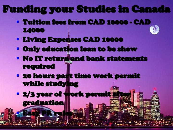 Funding your Studies in Canada