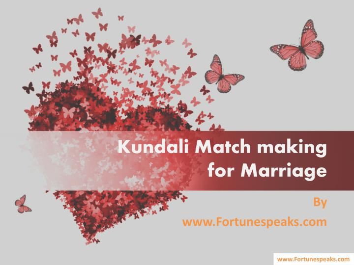 Kundali match making for marriage