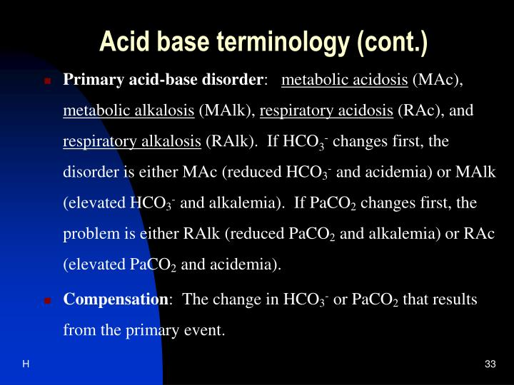 Acid base terminology (cont.)