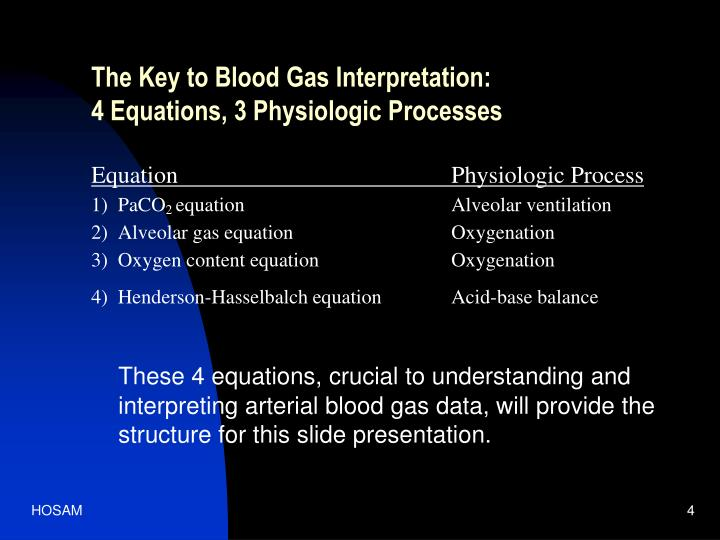 The Key to Blood Gas Interpretation: