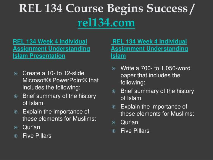 rel 134 complete class week 1 Read this essay on rel 134 complete class week 1 – 5 all assignments and discussion questions come browse our large digital warehouse of free sample essays get the knowledge you need in order to pass your classes and more.