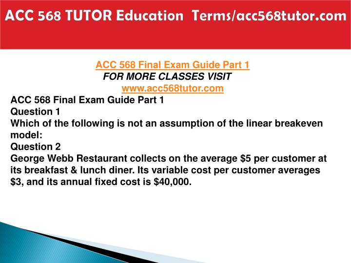 Acc 568 tutor education terms acc568tutor com1
