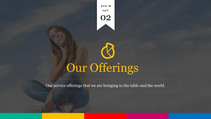 Our service offerings that we are bringing to the table and the world.