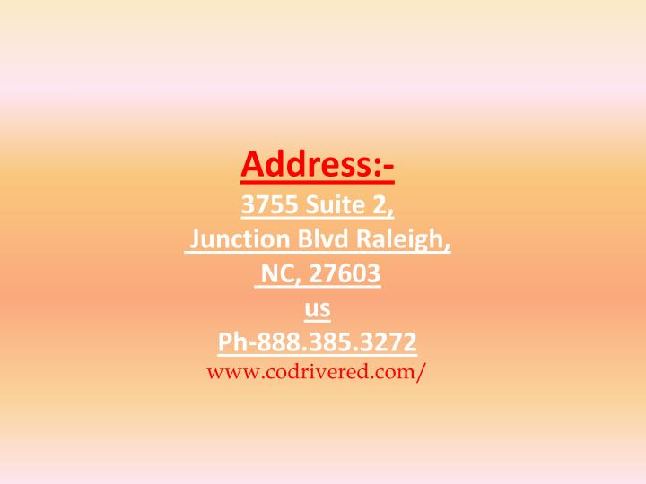 Address:-