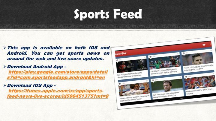 Sports Feed