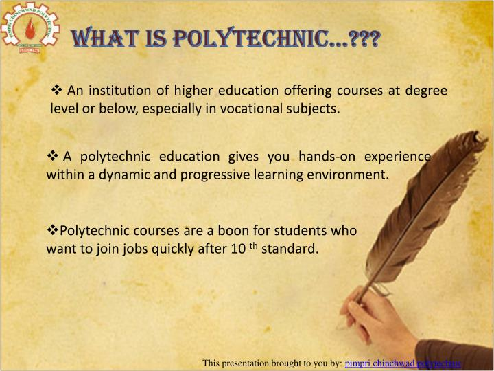 What is Polytechnic…???