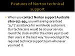 features of norton technical support