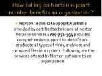 how calling on norton support number benefits an organization