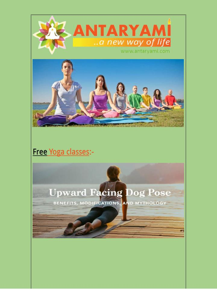 FreeYoga classes:-